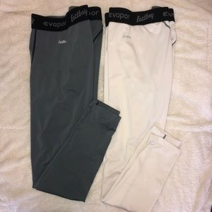 Lot of TWO athletic tights | grey & white | size L